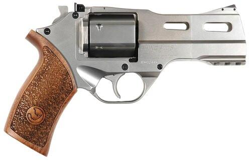 """Chiappa White Rhino 357 RemMag 4"""" 6rd Wood Grip Nickel"""