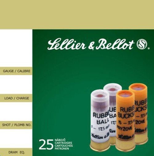 Sellier and Bellot Rubber Ball 1 Ball 25Rd/Box