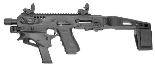 Command Arms MCKA MCK Advanced Conversion Kit Fits Glock 17/19/19X/22/23/31/32/45 Gen3-5 Black Polymer Stock