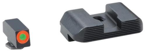 AmeriGlo Hackathorn Night Set For Glock 17/19/22 Orange Outline Front Black Serrated Rear