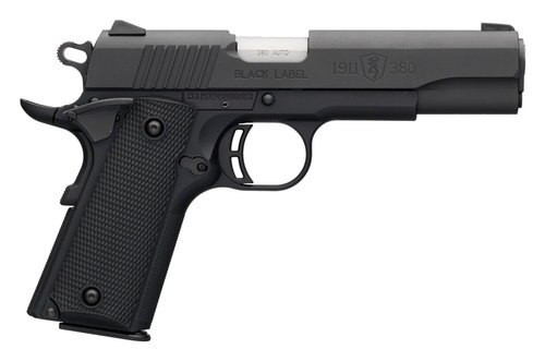 "Browning 1911 Black Label, .380 ACP, 3.625"" Barrel, 8rd, Black"