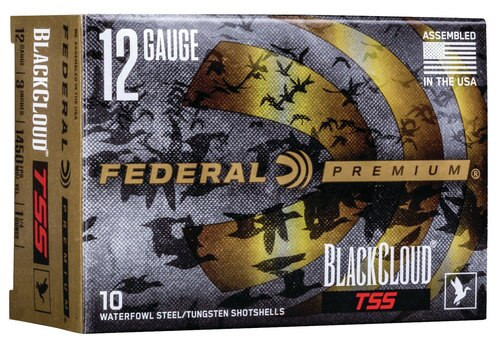 "Federal BlackCloud 12 Ga, 3"", 1 1/4oz, 18 g-cc Tungsten Super Shot, 10rd/Box"