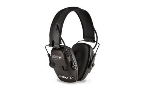 Howard Leight Impact Sport Bolt Black Electronic Earmuff - Industry Leading Attack Time!