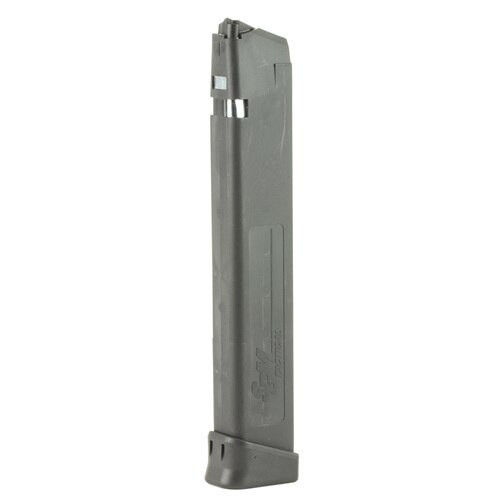 SGM Tactical Glock 17-19-26-34 Magazine 9mm, Any 9mm Glock, Black 33rd