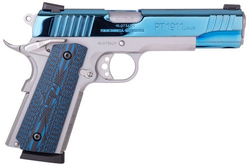 "Taurus 1911 45 ACP 5"" Barrel VZ Grip SS/Blue PVD Finish"