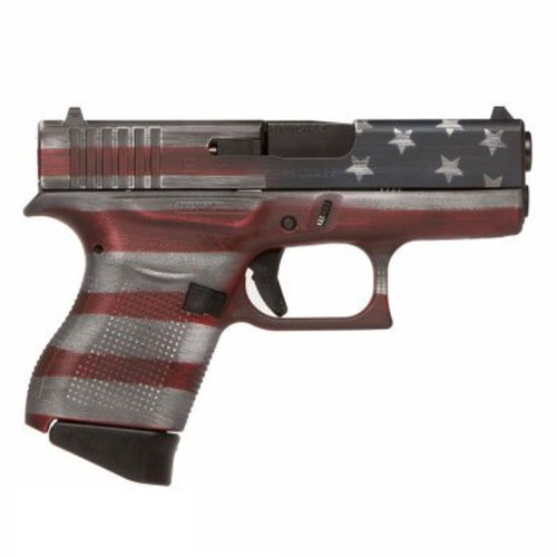 "Glock G43 Subcompact, 9mm, 3.39"" Barrel, 6rd, American Flag"