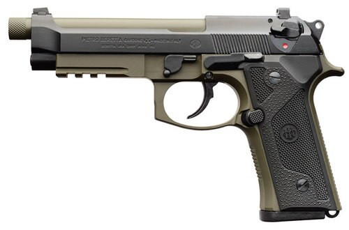 "Beretta M9A3, 9mm, 5.1"" Barrel, 17rd, Ambi Safety, Green/Black"