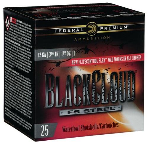 "Federal BlackCloud 12 Ga, 3.5"", 1-1/2oz, 1 Shot, 25rd/Box"