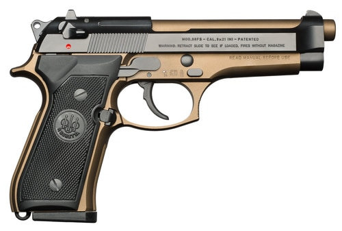 "Beretta 92, 9mm, 4.9"" Barrel, 10rd, Decocker, Burnt Bronze"