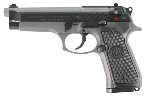 "Beretta 92, 9mm, 4.9"" Barrel, 10rd, Decocker, Sniper Gray"