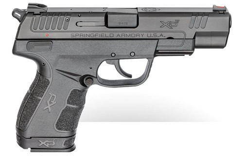 "Springfield XD-E, 9mm, 4.5"" Barrel, 8rd/9rd, Black"