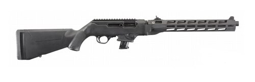 "Ruger PC Carbine M-Lok 9mm, 16"" Black Hardcoat Anodized, SR Series Mag, *CA Compliant* 10rd Mag"