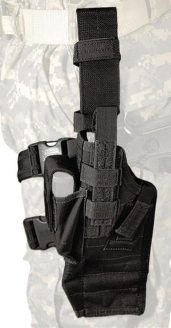 Blackhawk Omega IV Elite Drop Leg Thigh Holster With Quick Release Black Left Hand For Sig 226/228 and Glock 17/19/22/23/27