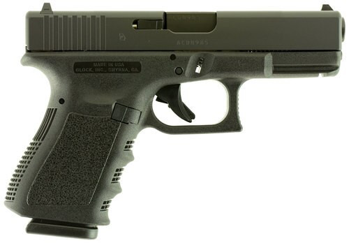 """Glock, 19, Double Action Only, Compact, 9mm, 4.02"""" Barrel, Polymer Fame, Matte Finish, Fixed Sights, 10Rd, 2 Magazines"""
