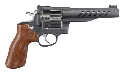 "Ruger Super GP100 357 Mag/38 Spec 5.5"" Barrel Hogue Hardwood Grip Black PVD Finish, 8 Round"