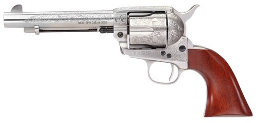 "Taylors 1873 Cattleman, .357 Mag, 5.5"", 6rd, Floral Engraved"