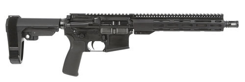 "Radical Firearms RF Forged AR Pistol223REM/556NATO, 10.5"" Barrel, 1:7 Twist, A2 Flash Hider, Aluminum Receivers, Anodized Finish, Black Color, 10"" M-Lok Handguard, SB Tactical SBA3 Pistol Stabilizing Brace, 30Rd, 1 Magazine"