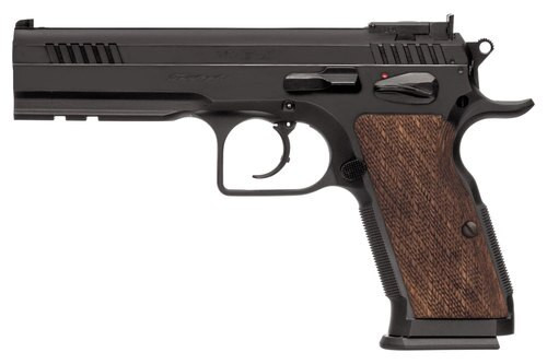 "EAA Witness Elite Stock 3, .38 Super, 4.75"", 17rd, Checkered Walnut Grips, Black"