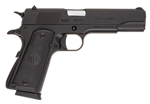 "Girsan MC1911S, .45 ACP, 5"" Barrel, Fixed Novak Sights, Black, 8rd"