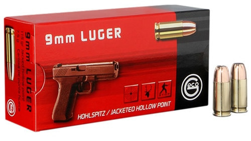 GECO JHP 9mm 115gr, Jacketed Hollow Point, 50rd Box