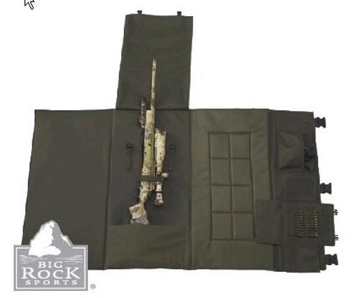 """US Peacekeeper Shooting Mat Pack 36"""" x 64"""" Black"""