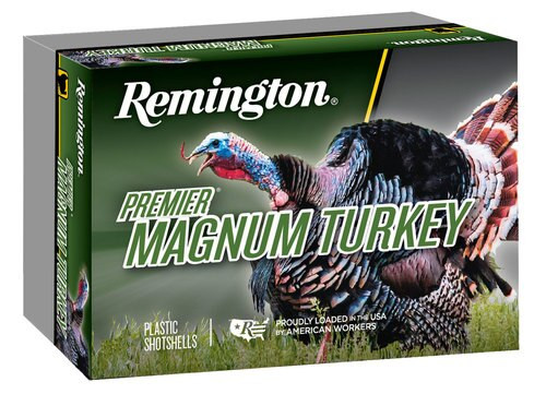 "Remington Ammo Premier Magnum Copper-Plated Buffered Turkey 12 Ga, 3.5"", 2-1/4oz, 4 Shot, 5rd/Box"