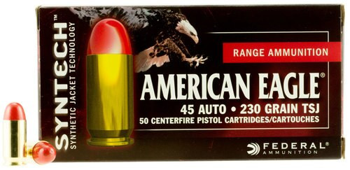 Federal American Eagle Syntech 45 ACP 230gr, 50rd Box