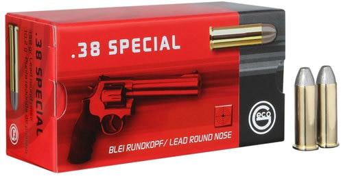 GECO Geco Handgun Ammunition 38 Special 158gr, Lead Round Nose 50 Bx/20 Cs
