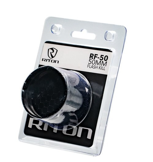 RITON OPTICS RF-50, Flash Kill, 6061 T6 Aluminum, Black