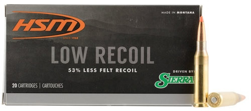 HSM Low Recoil 7mm-08 Remington 140gr, Ballistic Tip, 20rd Box