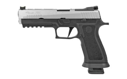 "SIG P320 X-Series, 9mm, 5"", 21rd, Fiber Optic FS, Stainless/Black"