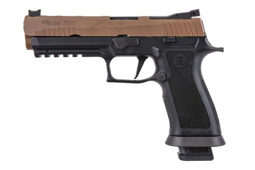 "Sig P320 X-Series, 9mm, 5"", 21rd, Fiber Optic FS, Coyote/Black"