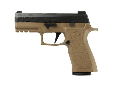 "*D*SIG P320 X-Series, 9mm, 3.9"", 17rd, X-Ray3 NS, Black Slide, Coyote Frame"