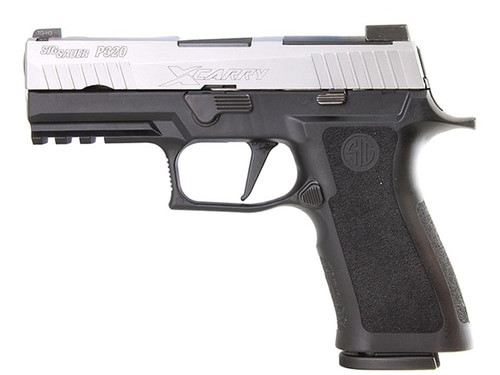 "*D*SIG P320 X-Series, 9mm, 3.9"" Barrel X-Ray3 Night Sights, Stainless/Black, Enhanced Serrations, 17rd Mag"
