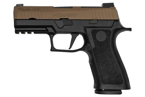 "Sig P320 XCarry Coyote 9mm, 3.9"", X-Ray3 NS, Coyote Slide, Black Frame, 17rd"