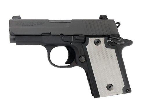 """Sig P938, 9mm, 3"""", 6rd/7rd, Laser Module, Nitron Slide, Black Frame"""
