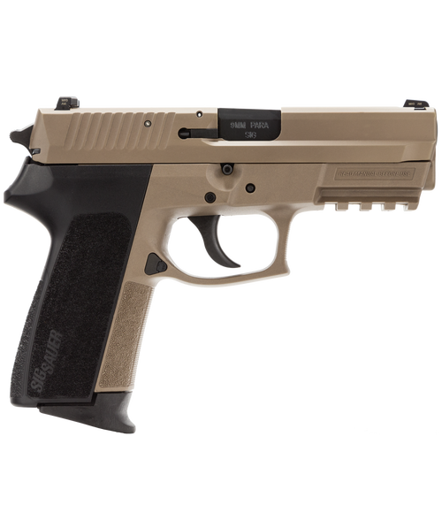 "Sig SP2022 Full Size, 9mm, 3.9"", 15rd, SIGLITE NS, Flat Dark Earth"