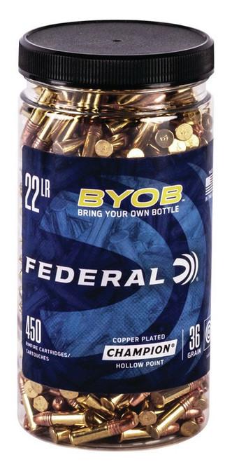 Federal 22LR 36gr, Copper HP BYOB, 450rd/Bottle