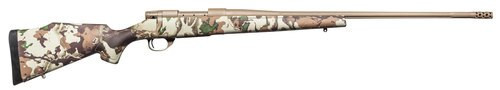 """Weatherby Vanguard First Lite, 6.5-300 Weatherby, 28"""" Barrel, Flat Dark Earth, First Lite Fusion Camo Synthetic Stock, 3Rd"""
