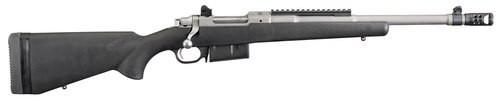 """Ruger Scout Rifle 450 BUSHMASTER 16.1"""" Barrel, Hybrid Muzzle Brake, Matte SSl Finish, Adjustable Rear Sigh"""