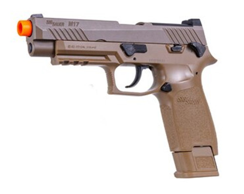 "Sig Airsoft Proforce M17, 6mm, 5.5"", 21rd, Green GAS Power Source, Coyote Tan"