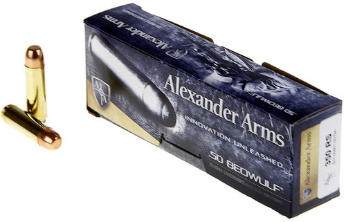 Alexander Arms .50 Beowulf 350gr Round Shoulder, 20rd Box