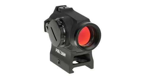 Holosun Technologies Micro Dual Reticle, Red Dot, 1X Power, 20mm Objective, 2MOA Dot with 65MOA Circle Multi Reticle System, Internal Battery, Hi and Low Mount In Box, Mounting Tool And Lens Cloth, Fits 1913 Picatinny Rail, Black