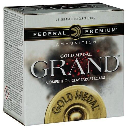 "Federal Gold Medal Grand Target 12 Ga, 2.75"", 1-1/8oz, 7.5 Shot, 1145 FPS, 25rd/Box"