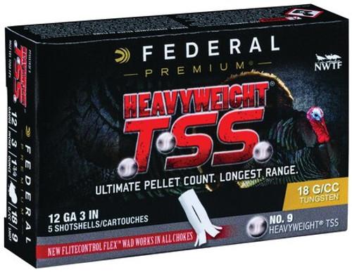 "Federal Heavyweight TSS 12 Ga, 3"", 1-3/4oz, 9 Shot, 5rd/Box"