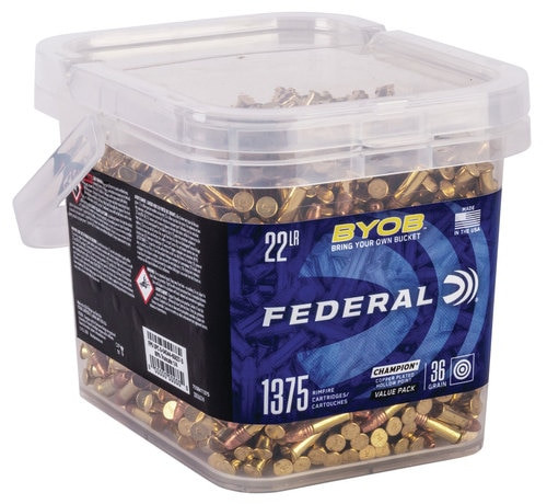 Federal Small Game Target BYOB 22LR 36gr, Copper-Plated Hollow Point, 1375/Bucket