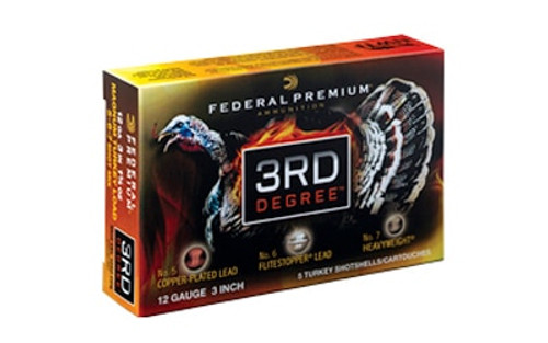 "Federal Third Degree Turkey 12 Ga, 3"", 1 3/4oz, 5rd/Box"