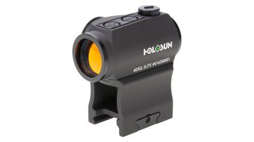 Holosun HE403R-GD Elite, Gold Dot, 2 MOA Dot, Rheostat Dial, Black