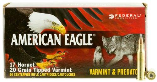 Federal American Eagle 17 Hornet 20gr, Varmint, 50rd Box