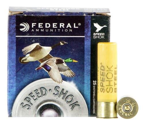 "Federal Speed-Shok 20 Ga, 3"", 7/8oz, Steel, 1550 FPS, 2 Shot, 25rd/Box"